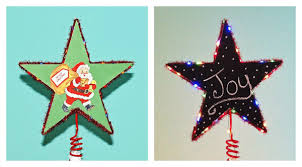 Star Christmas Tree Toppers Lighted - 9 merry and bright diy christmas tree toppers babble