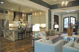 Open Floor Plan Kitchen And Living Room Love The Woodwork The Floor Color The Layout And The Light