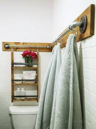 Storage Towels Small Bathroom by Best 25 Over Toilet Storage Ideas On Pinterest Toilet Storage