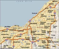 map of cleveland map cleveland ohio