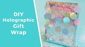 holographic gift wrap diy holographic gift wrap for christmas