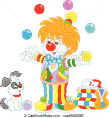 clowns juggling balls circus clown juggling with color balls friendly smiling clip