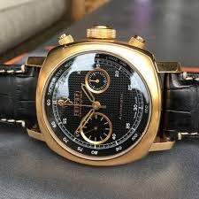 ferrari gold panerai ferrari 18k rose gold grand turismo fer00006 chronograph