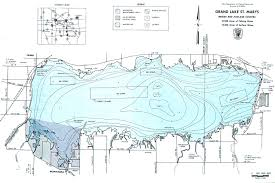 Topographic Map Of Ohio by Grand Lake St Marys Fishing Map Southwest Ohio Go Fish Ohio