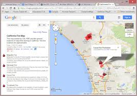 Wildfire Map America by Google Maps California Cities California Map Convenient Locations