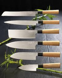 set couteau de cuisine achat set 6 couteaux de cuisine en damas pearl fr