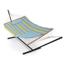 Outdoor Hammock With Stand Patio Outdoor Swing Hammock Combo W Stand Pad Pillow