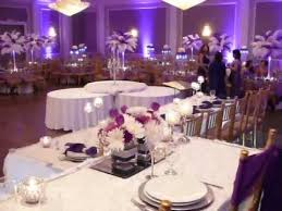 purple centerpieces purple wedding decor ostrich centerpieces