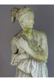 statues de jardin en pierre statue de jardin diane au bain pierre ciment début xx ème le