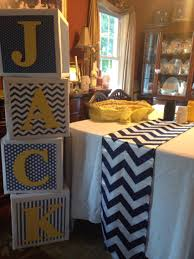 Baby Shower Centerpieces For A Boy by Boy Baby Shower Nautical Theme Baby Blocks Babyshower