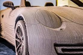 porsche life size we produced a real life size car made out of cardboard dimeko