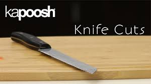 basic kitchen knives basic knife cuts 4 techniques every cook should know youtube