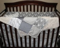 Minky Crib Bedding Baby Boy Crib Bedding Buck Black Arrow Aztec