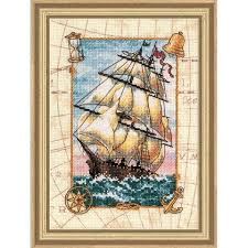 dimensions voyage at sea counted cross stitch