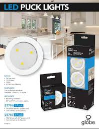 globe electric 25787 2 watt led puck light kit white finish 3