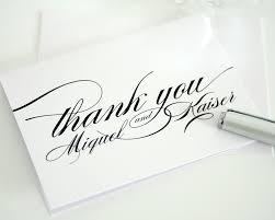 thank you card unique design custom thank you cards wedding