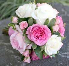 White Rose Bouquet Pink And Magenta Wedding Bouquets Bb0590 Small Pink And White