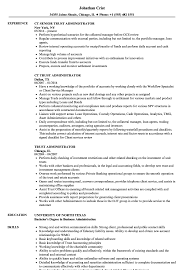 sle resume for business analysts duties of executor of trust trust administrator resume sles velvet jobs