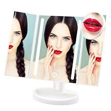 assis led lighted makeup mirror lighted makeup mirror assis led vanity mirror with 10x