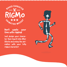 rigmo rigged character animation mockup by creartdesign videohive