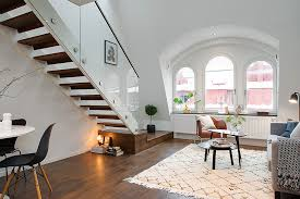 Interior Stairs Design In Duplex Apartments Charming Apartment In Central Stockholm Infused With Light
