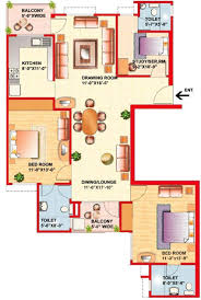 2bhk Plan For 500 Sq Ft 1515 Sq Ft 2 Bhk 3t Apartment For Sale In Eldeco Group Riviera Pi