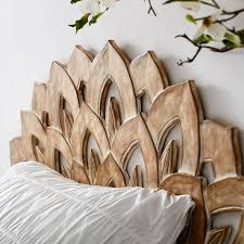 Carved Wood Headboard Wood Carved Faux Headboard Pbteen