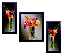 buy 3 piece set of framed wall hanging art online at low prices in