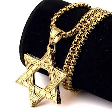 hip hop jewelry necklace images Bling judaism jewish six jew stars necklaces hip hop jewelry gift jpg