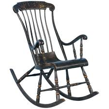 Antique Pressed Back Rocking Chair Antique Black Swedish Rocking Chair With Original Black Paint