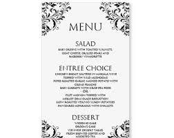 wedding menu templates menu templates free word http webdesign14