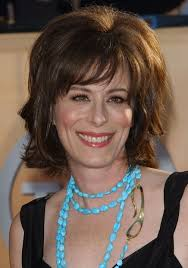 haircut with bangs women over 50 jane kaczmarek layered hairstyle with bangs for thick hair