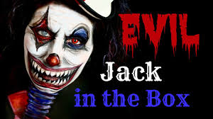 evil jack in the box makeup tutorial face painting youtube