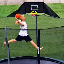 amazon com propel trampolines jump u0027n u0027 jam trampoline basketball