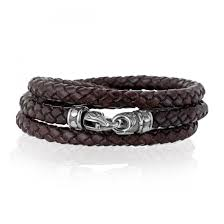 kay jewelers clearance scott kay sterling silver men u0027s brown leather wrap bracelet