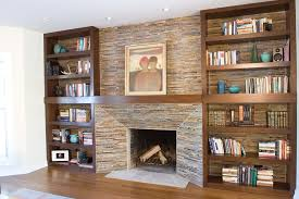 built in bookcases fireplace home design ideas