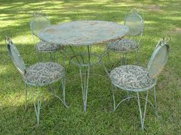 Wrought Iron Mesh Patio Furniture by Vintage Patio Furniture Set Ornate Wrought Iron French Country