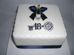 18th 21st boys girls champagne bottle birthday cake packs with