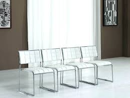 White Leather Dining Chairs Modern White Leather Dining Room Chairs Lauermarine