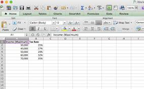 2015 Federal Tax Tables Doing Your Taxes 5 Excel Formulas You Must Know