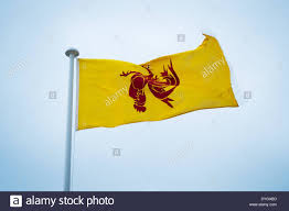 Flying The Flag Upside Down Aberystwyht Wales Uk April 17 2014 The Red Walloon Rooster Flag