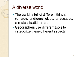 1 time zones and regions what are they 2 a diverse world the