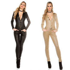 leather jumpsuit leather jumpsuit ebay