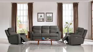 grey fabric modern living room sectional sofa w wooden legs casa shaw modern grey fabric sofa set w recliners