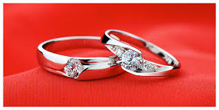 cheap rings silver images Cheap couple 39 s matching cz promise rings set for him and her in jpg