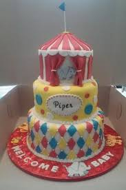 3 tier circus themed baby shower cake cakecentral com