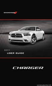 dodge charger 2011 7 g owners manual