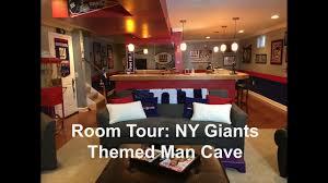 New York Giants Home Decor Room Tour Ny Giants Themed Man Cave Youtube