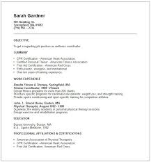 Resume Examples For Physical Therapist by Wellness Coordinator Resume Example Free Templates Collection