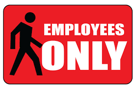 printable employees only sign red get free download now